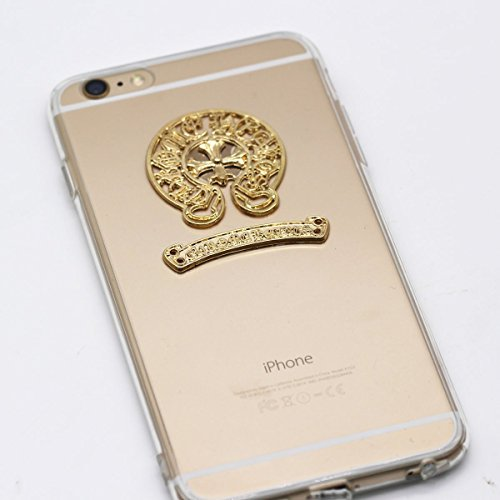 2015 Iphone6 Chic Gloden Clear Style Chrome Cross Heart Case