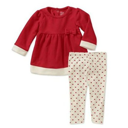Carters Infant Girls Red Santa Suit 2 Piece Set Mrs Claus Christmas Outfit