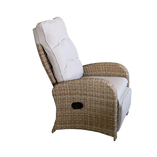 Wohaga-Polyrattan-Sessel-Gartensessel-Natur-mit-Futeil-und-Auflage-Rattansessel-Relaxsessel-Loungesessel-Fernsehsessel-Lehne-stufenlos-verstellbar-Rattanmbel-Gartenmbel