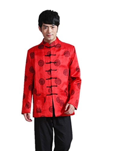Jiayanzi Men's Tang Suit Tunic Chinese Traditional Costume Wedding Dress