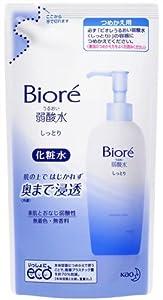 Biore URUOI JYAKU-SANSUI SHITTORI acescence-water toner - Refill 180ml (japan import)