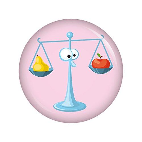 Kiwikatze® Sternzeichen - Astro Waage 37mm Button Ansteckbutton Pin Geschenk Mitbringsel Astrologie Horoskop Sterne