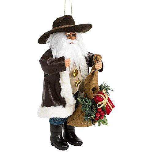 Santa's Workshop Moldable Santa Ornament – 9″ Cowboy Delivery