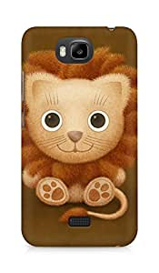 Amez designer printed 3d premium high quality back case cover for Huawei Honor Bee (Vladstudio Lion)