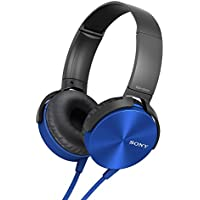Sony MDR-XB450AP On-Ear Extra Bass XB Headphones With Mic (Blue)