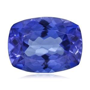 1.20-1.52 Cts of 7.5x5.5 mm AAA Cushion Genuine Natural Arusha Tanzanite ( 1 pc ) Loose Gemstone