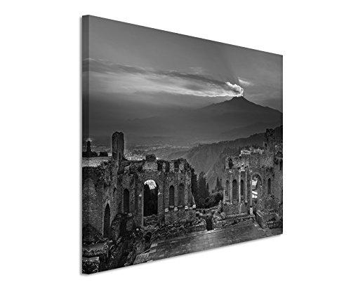 canvas-print-50-x-70-cm-black-white-top-quality-ruins-flavian-amphitheatre-atna-sunset
