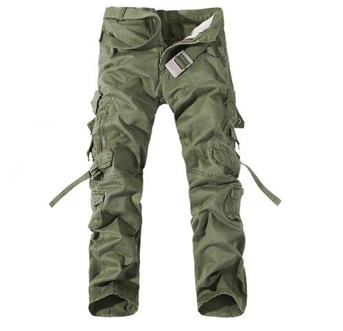 [ノーブランド品] K'Z 10 ポケット ミリタリー デザイン カーゴパンツ ズボン 0224