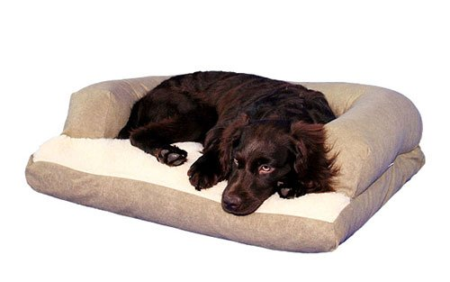 Caddis Beasley's Couch Dog Bed PolySuede Sage Medium 25