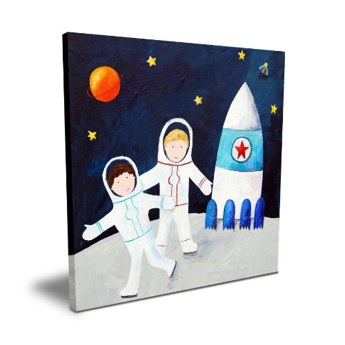 "Cici Art Factory Brothers on the Moon, 16""x 16"""
