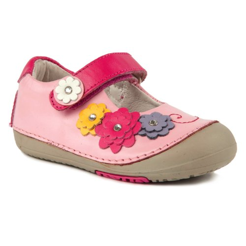 Momo Baby Mary Jane Leather Shoes - Flower Power Pink Size 4.5 front-922208