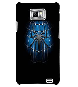 PrintDhaba Spider D-2141 Back Case Cover for SAMSUNG GALAXY S2 (Multi-Coloured)