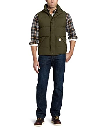 Carhartt Men's Down Kalkaska Vest, Army Green, Small