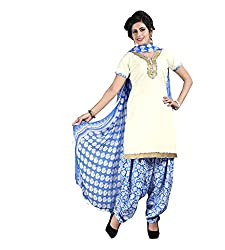 Ethnic Chic white colored cotton suit.