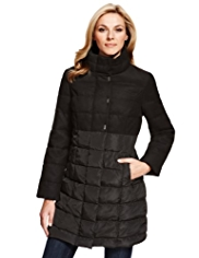 M&S Collection Funnel Neck Padded Coat