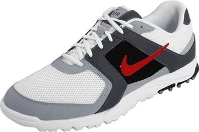 Nike Golf Men's Nike Air Range WP Golf Shoe,White/Sport Red/Dark Grey,9 W US