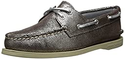 Sperry Top-Sider Women\'s A/O Boat Shoe, Silver, 9.5 M US