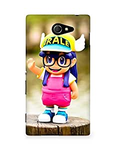 Amez designer printed 3d premium high quality back case cover for Sony Xperia M2 D2302 (Cute doll)