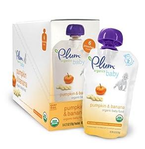 Plum Organics Baby Food, Pumpkin & Banana, 4.22-Ounce Pouches (Pack of 24)