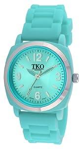 TKO ORLOGI Women's TK584-TQ Milano II Turquoise Rubberized Case Watch