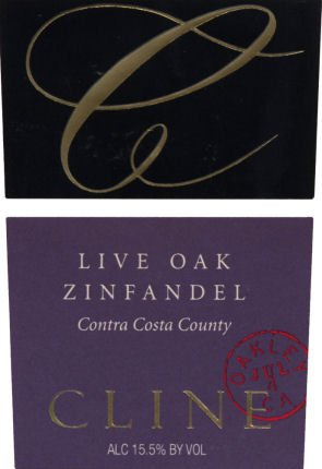 2010 Cline Cellars Live Oak Zinfandel 750Ml