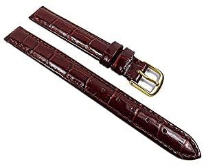 Herzog Louis.- Print XL watch strap watchband leather Band Rostbrown with Naht 21915G-XL, Width: 20 mm