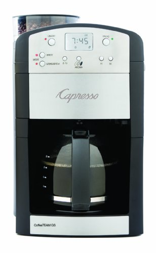 Capresso 464.05 Coffeeteam Gs 10-Cup Digital Coffeemaker With Conical Burr Grinder front-464178