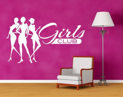 Style & Apply - Girls Club - Wall Decal, Sticker, Mural Vinyl Art Home Decor