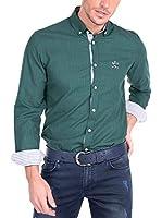 SIR RAYMOND TAILOR Men'S Linen Shirt Couch (VERDE)