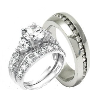 Wedding Bands Sets For Him And Her White Gold March 2012