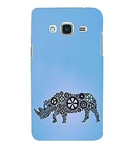 Geared Rhino 3D Hard Polycarbonate Designer Back Case Cover for Samsung Galaxy J2 (2016) :: Samsung Galaxy J2 Pro (2016)