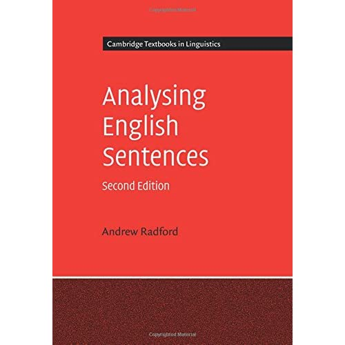 Analysing English Sentences Radford, Andrew