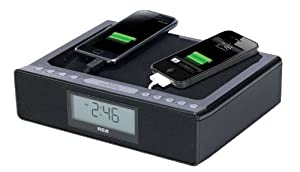 RCA RC117V High Quality Dual USB Radio with Alarm Clock (Discontinued by Manufacturer)