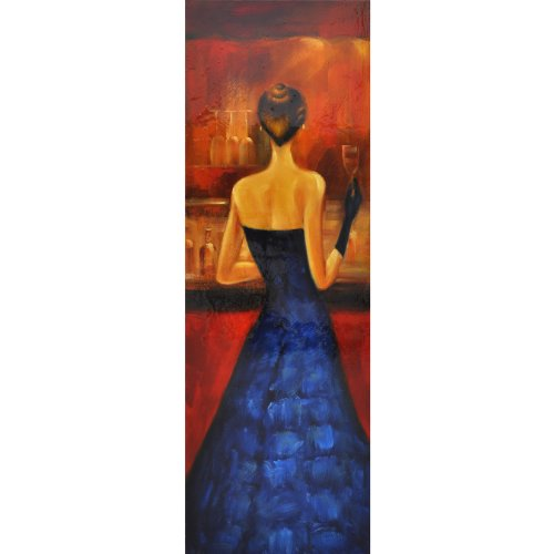 Yosemite Home Decor Fcb4660Q-3 Women Of Distinction Blue Hand Painted Wall Art