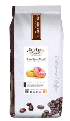 Barrie House Coffee Donut Shop Blend Coffee, Whole Bean 2.5 Lb. Bag