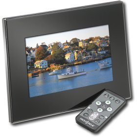 "Insignia 7"" Widescreen Lcd Digital Photo Frame - Black/Silver"