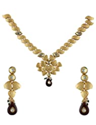 Anuradha Art Gold Kundan Necklace Set For Women