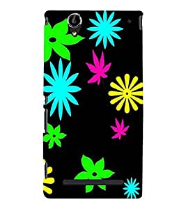 printtech Floral weed Pattern Back Case Cover for Sony Xperia T2 Ultra::Sony Xperia T2 Ultra Dual