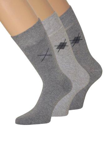 Gesundheitssocken Socken ohne Gummi Herrensocken ohne Gummibund ohne Gummizug, Gr 39-42, 6 Paar