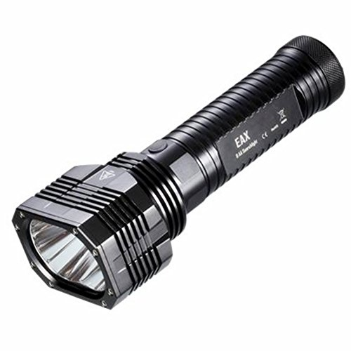 Nitecore Eax Led Cree Xm-L2 T6 Flashlight Maximum Output Of Up To 2000 Lumens Boasts A Peak Beam Intensity Of 60,000Cd And A Throw Distance Of Up To 490 Meters With High Efficiency Circuit Board Provides Up To 800 Hours Runtime Also Waterproof (Eax Flashl