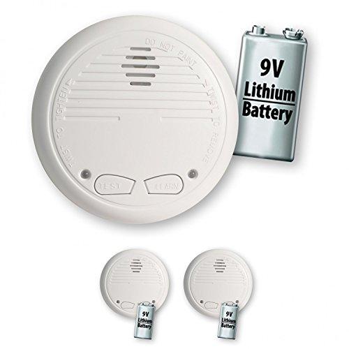 2 Nemaxx WL10 Funkrauchmelder mit 10 Jahre Lithium Batterie Rauchmelder Brandmelder Set Funk koppelbar vernetzt - nach EN 14604