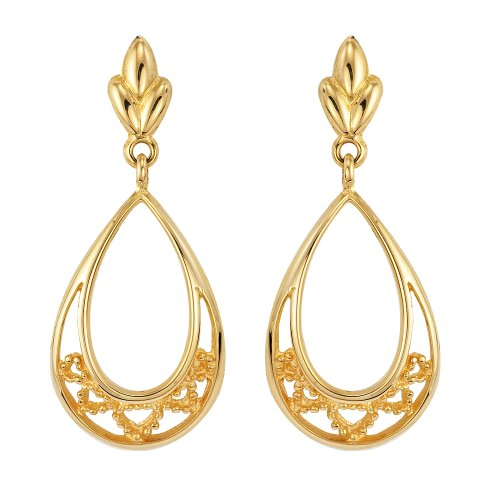 9ct Yellow Gold Ladies' Victorian Dropper Earrings