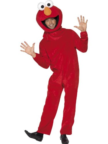 Sesame Street Elmo Costume Unisex Adult Fancy Dress