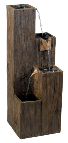 Kenroy Home #50007WDG Timber Indoor/Outdoor Floor Fountain with Wood Grain Finish
