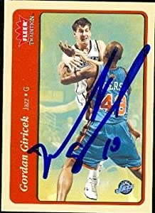Gordan Giricek Autographed Hand Signed Basketball Card (Utah Jazz) 2004 Fleer... by Hall of Fame Memorabilia