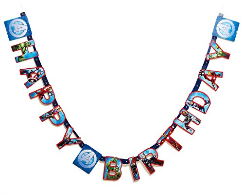 Marvel Avengers Birthday Party Banner, Party Supplies - 1
