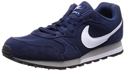Nike MD Runner 2, Herren Sneakers, Blau (Midnight Navy/White-Wolf Grey), 42.5 EU (8 Herren UK) thumbnail