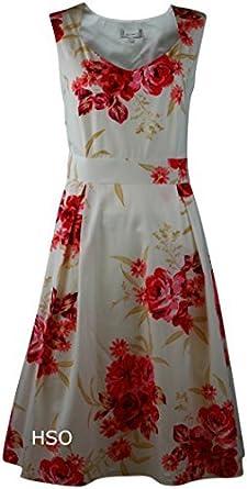 damen kleid im 50er jahre stil rosa beige mit rosenmuster. Black Bedroom Furniture Sets. Home Design Ideas