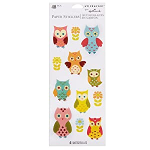 Owls Sticker Sheets Party Accessory