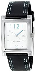 Sonata Yuva Analog White Dial Mens Watch - NF7925SL04A